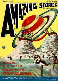 Cover of Amazing Stories, April 1926.