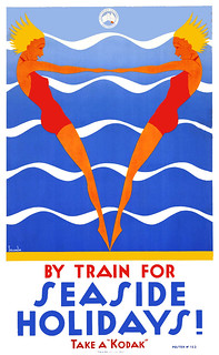 SELLHEIM. By Train for Seaside Holidays! Take a Kodak, c. 1930s.