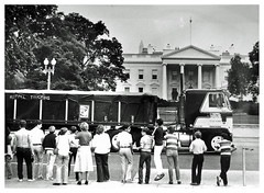 Independent truckers protest at the White House: 1979