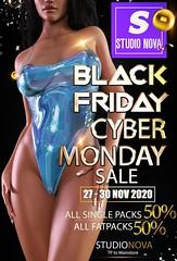 [StudioNova] Black Friday/Cyber Monday 2020 SALE !!