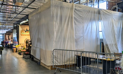 Covers over a new stall at Preston Market | by Tony Worrall