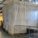 Covers over a new stall at Preston Market
