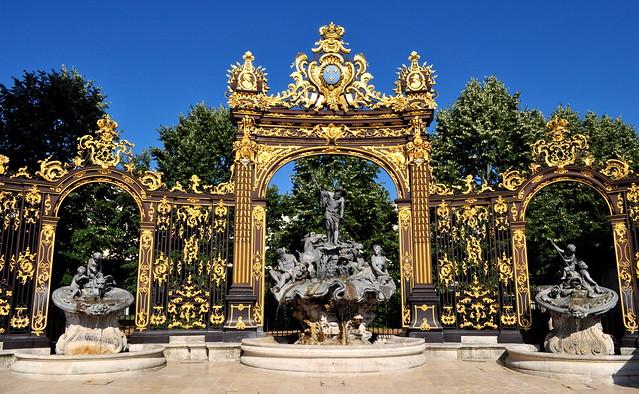Fontaine de Neptune, 1750, place Stanislas, Nancy, Meurthe-et-Moselle, Lorraine, Grand Est, France.