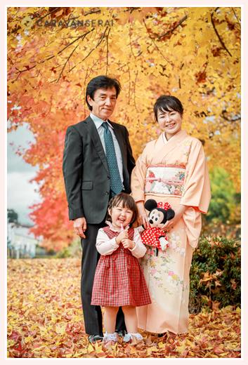 花フェスタ記念公園で家族写真 岐阜県可児市