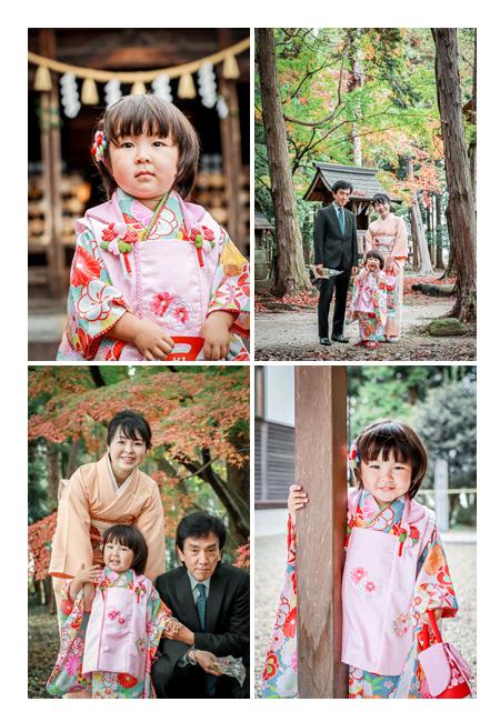 七五三 3才の女の子 親子写真 子守神社(岐阜県可児市)