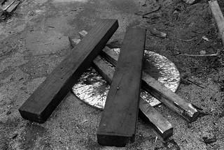 Timber yard, Towpath Road, Dorford Wharf, Edmonton, 1983 34m-51_2400