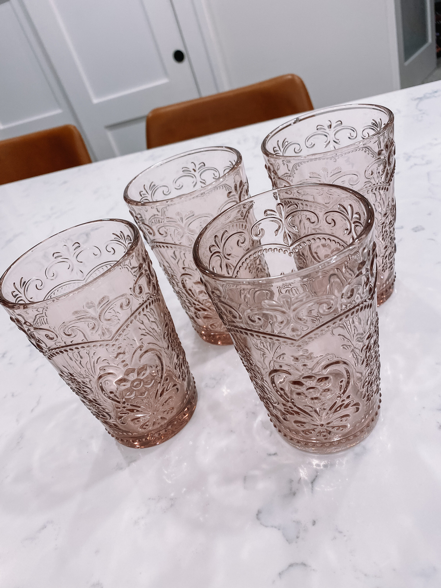 The Pioneer Woman Amelia 15.22-Ounce Rose Glass Tumblers