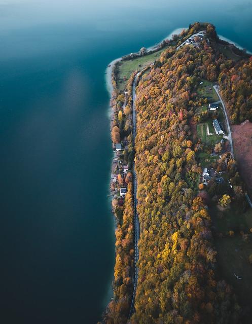 Sur les rives du lac d'Aiguebelette
