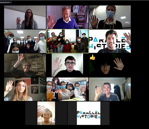 Parallel histories Erasmus+ project online meeting