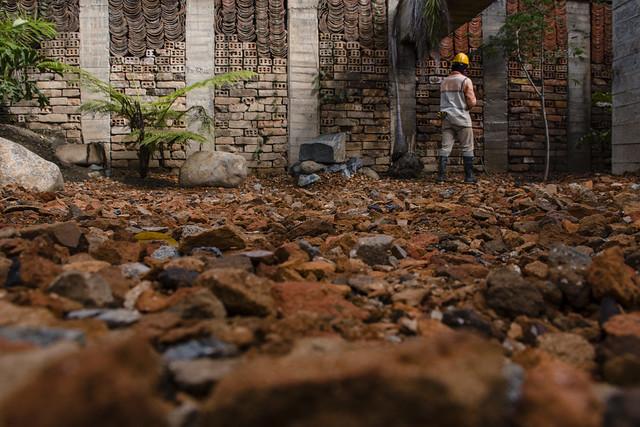 En Prado se construye un parque con escombros
