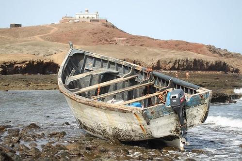 Patera que alcanzó la costa de Arinaga el pasado mes de agosto