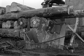 Timber yard, Towpath Road, Dorford Wharf, Edmonton, 1983 34m-63_2400