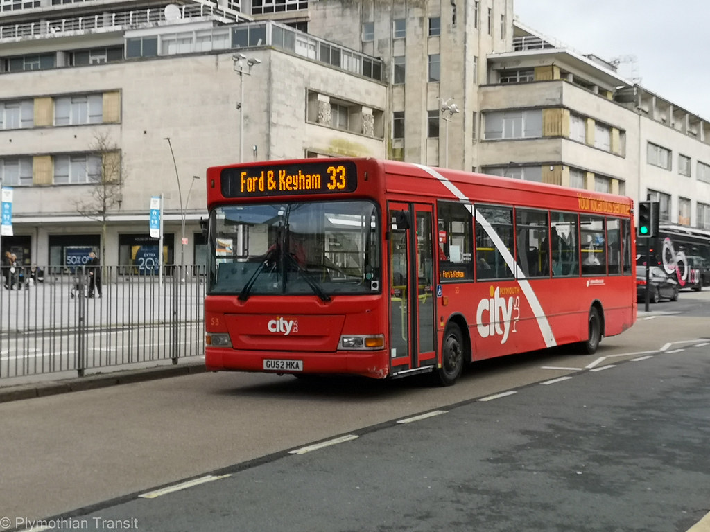 Plymouth Citybus 053 GU52HKA