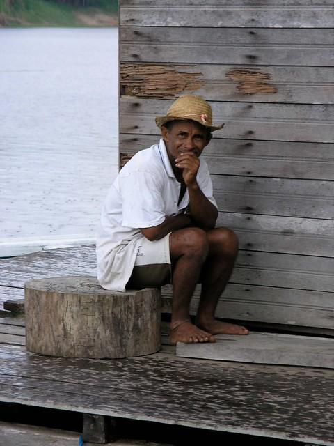 Man on Houseboat, Amazonas, Brazil
