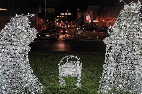Motivos navideños e iluminación de la Avenida de Ansite, en Cruce de Arinaga