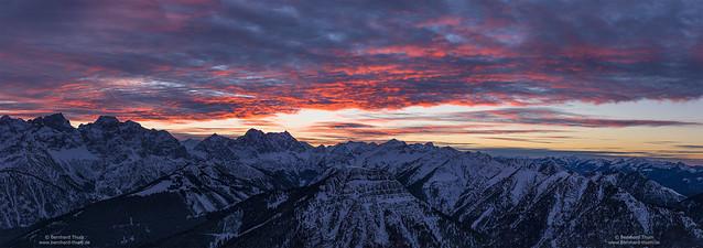 Dusk panorama at Karwendel - 2020 new edition