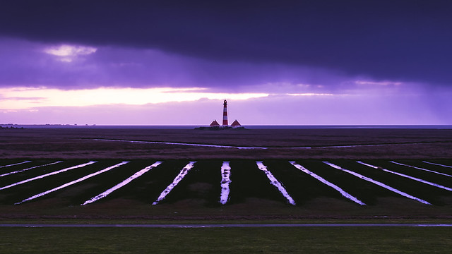 Westerhever Leuchtturm im Winter