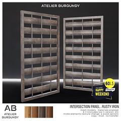Atelier Burgundy . Intersection Panel Rusty Iron HW