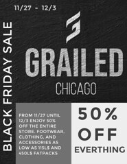 50% off EVERYTHING Black Friday Sale