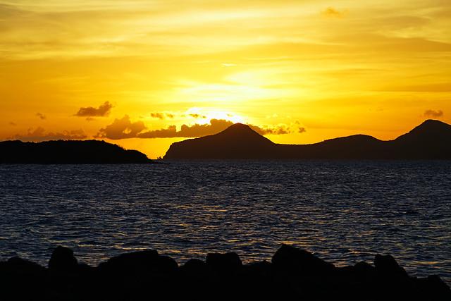Stunning colours of sunset, St Kitts & Nevis