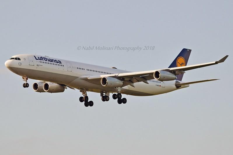 """Gießen"" Lufthansa D-AIFD Airbus A340-313 cn/390 @ EDDF / FRA 01-05-2018"