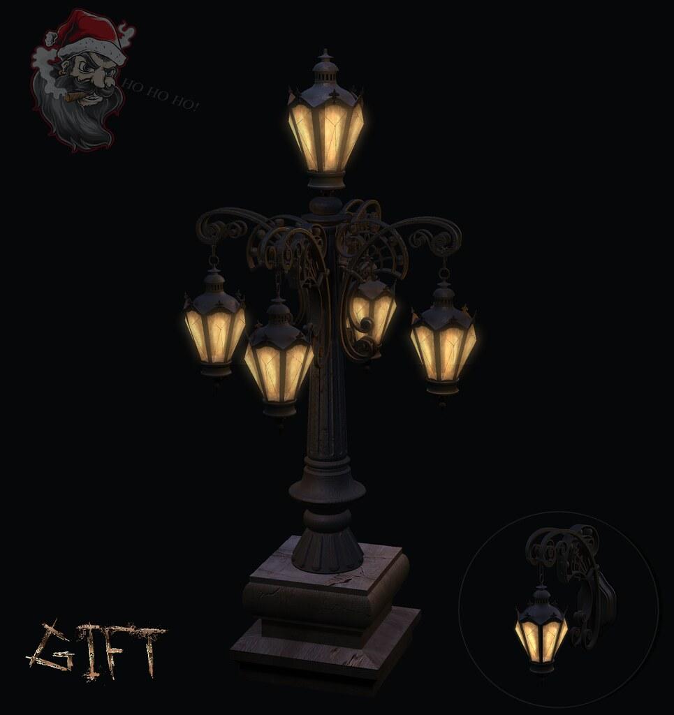 Victorian street lamp
