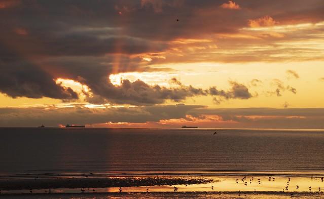 Sunrise bridlinton bay