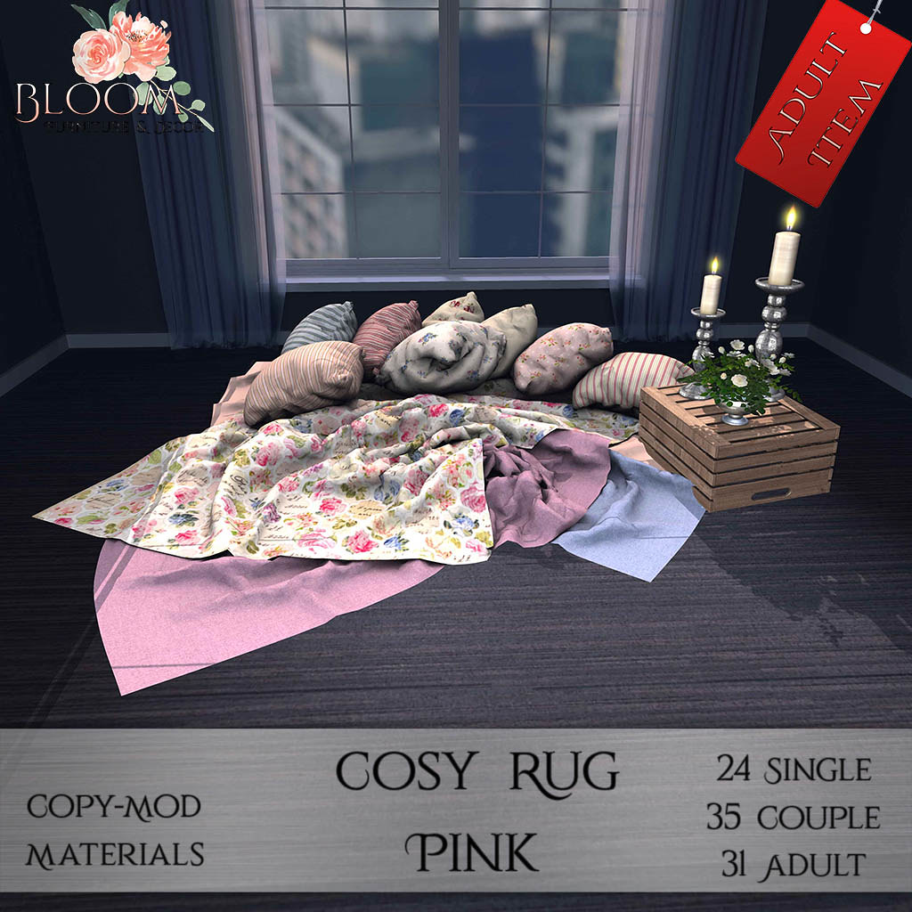 Bloom! – Cozy Rug Pink (A) AD