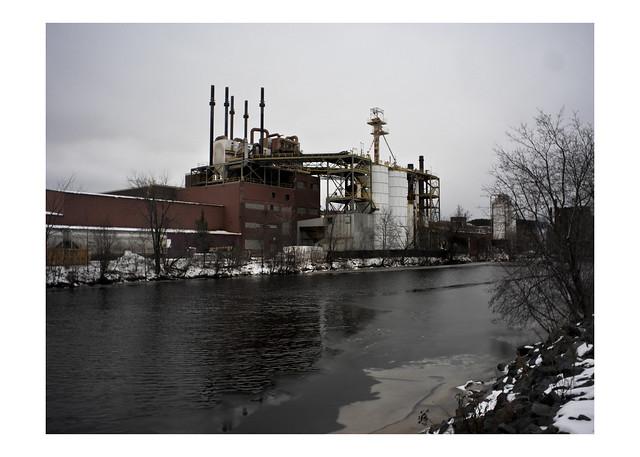 USG plant on the St. Louis River, Cloquet, Minnesota
