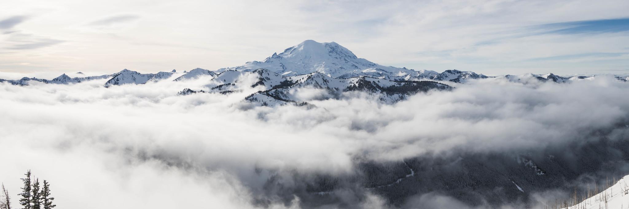 Mount Rainier panoramic view