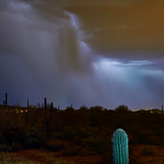 11. August 2015 - 21:13 - 2-image stitch. Storm in the Superstitions.