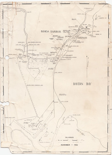 Map of Salamaua from December 1942