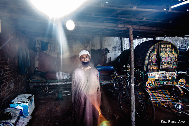 Elderly Rickshaw Puller