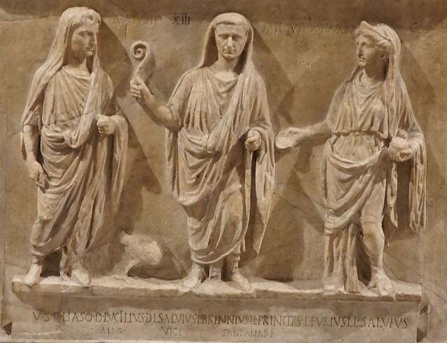 August àugur, Lares Augusti (ara), Galleria degli Uffizi, Firenze