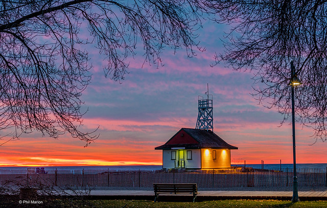 The Leuty at dawn - Kew Beach, Toronto