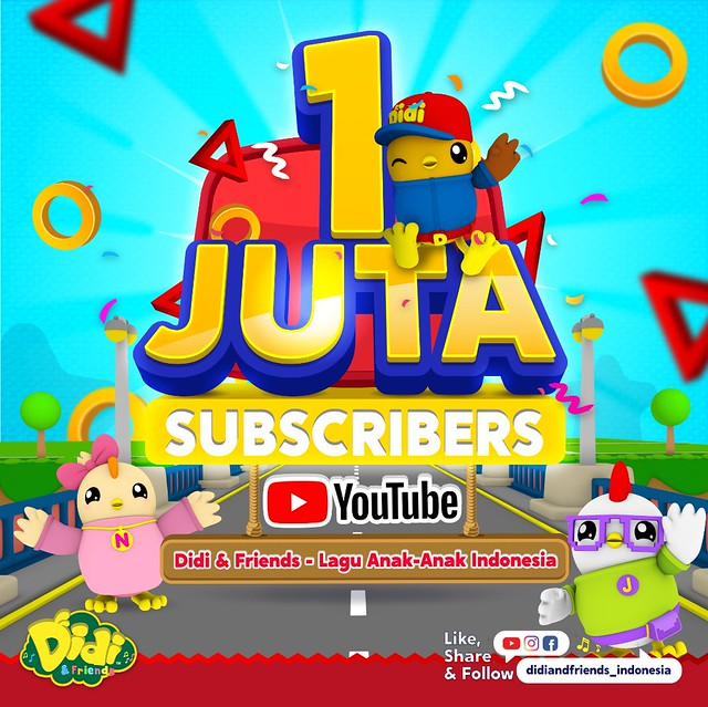 Didi & Friends 1 Million Subscribers (Indonesia YouTube)