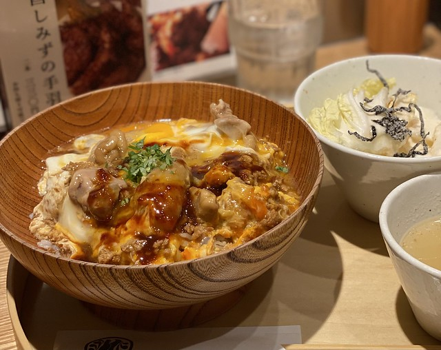 "Oyakodon using Nagoya's famed ""cochin eggs"""