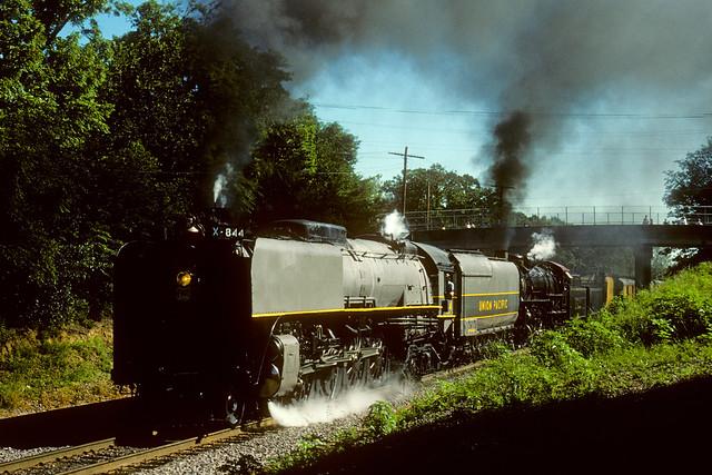 Union Pacific #844 & Frisco #1522
