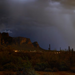 11. August 2015 - 21:18 - 2-image stitch. Storm in the Superstitions.