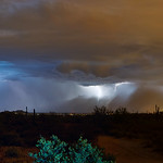 11. August 2015 - 21:12 - 2-image stitch. Monsoon vs. Haboob in the Superstitions.   DSC00473_Five Star 28mm f2.8 C_stitch