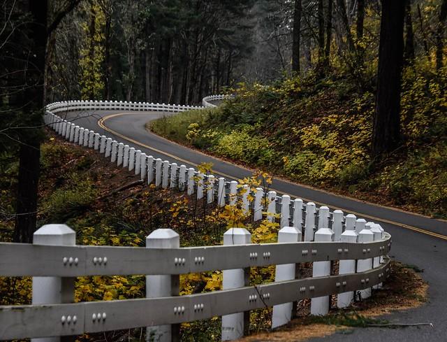 ... curvy guardrail...