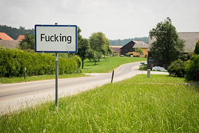 Pit stop at Fucking, Austria.