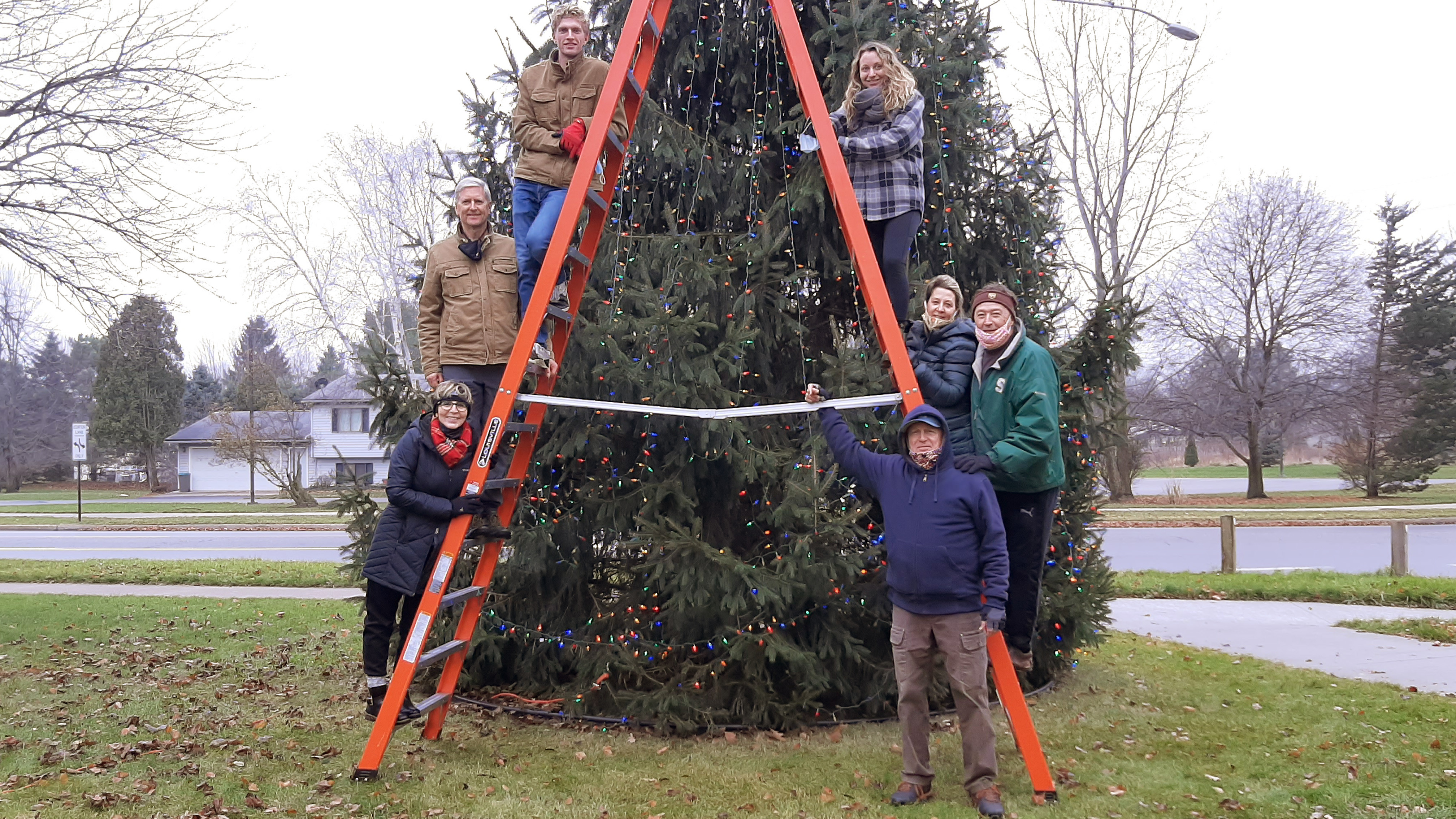 Christmas Tree Decorating in the Haslett Community