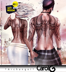 Archangel Unisex TaTToo [CAROL G] 60L$ Happy Weekend Sale!