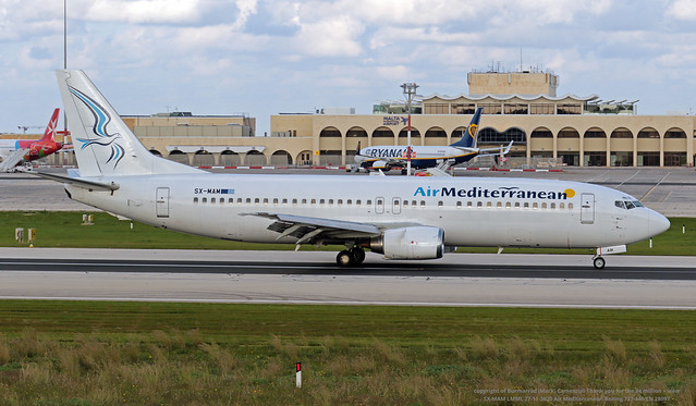 SX-MAM LMML 27-11-2020 Air Mediterranean Boeing 737-446 CN 28097