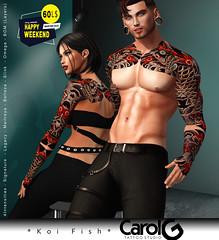 Koi Fish - Unisex Tattoo [CAROL G] Happy Weekend Sale