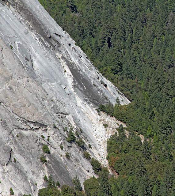 Rock Slide at Happy Isles