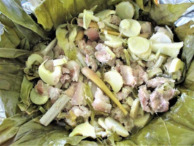 Pansoh-style pork belly with upa pantu