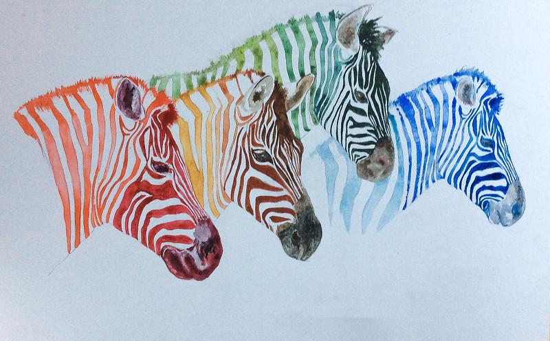 4 zebras... achieved