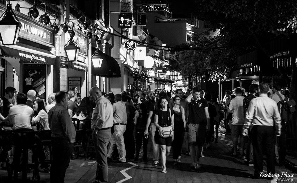 Clarke Quay before the pandemic